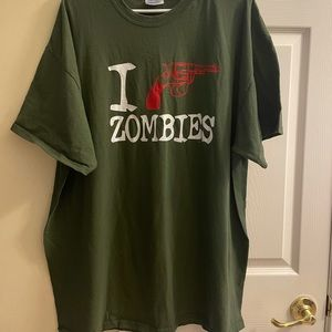 I shoot zombies men's shirt 2X gently used